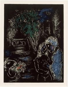 View The Green Tree with Lovers (M. By Marc Chagall; Lithograph in colors on Arches paper; Access more artwork lots and estimated & realized auction prices on MutualArt.