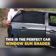 Really cool 😉😉 😍Calling all CAR owner!😍 🌞Best Car SUN SHADES that cuts sunlight and the heat. The Windows also can be roll down. Best Car Sun Shade, Logo Garage, Garniture Automobile, Window Sun Shades, 1000 Lifehacks, Car Gadgets, Car Hacks, Cool Inventions, Useful Life Hacks