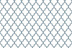 Philipsburg Blue Quatrefoil fabric by sparrowsong on Spoonflower - custom fabric