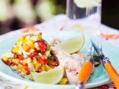 Kyckling med grönsakssalsa