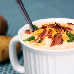 Baked Potato Soup, because homemade soup is 1 million times better than canned soup. This is the ultimate comfort food.