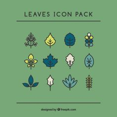 Handrawn Leaves Pack Free Vector