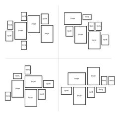 Bilderrahmen-Set Modern Schwarz MDF Basic Collection - Wandgestaltung ideen Set of 8 picture fra Frame Wall Collage, Collage Picture Frames, Photo Wall Collage, Frames On Wall, Picture Wall, Gallery Wall Layout, Photo Wall Decor, Picture Frame Sets, Photo Frame Layout
