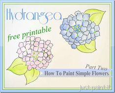 Paint Hydrangea – Free Printables - Just Paint It Blog
