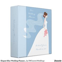 Elegant Blue Wedding Planner binder
