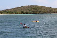 A pair of inflatable kayaks added to the fun of exploring unspoiled anchorages