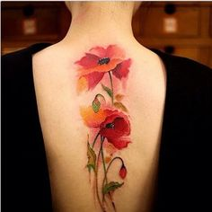 e've drawn together (excuse the pun) some beautiful, coloured tattoo designs to inspire you #FlowerTattooDesigns