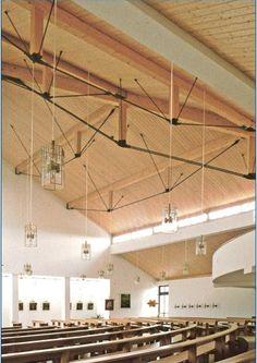 Tensores vigas de madera iglesia