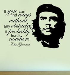 CHE GUEVARA Silhouette Vinyl Wall Art Quote Sticker Decal Home Decoration Famous