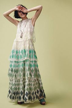 Embroidered Cypress Gown
