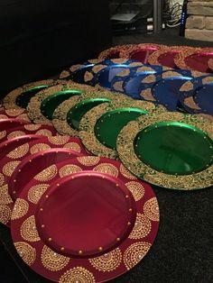 wedding plates/mehndi thaals by HennacandlesGifts on Etsy