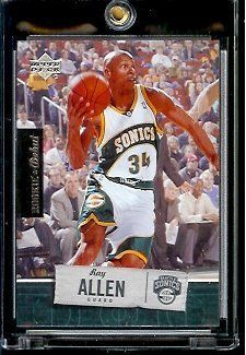 2005 06 Upper Deck Rookie Debut Ray Allen Seattle Sonics Basketball Card #88 - Mint Condition - In Protective Display Case by Upper Deck. $2.75. 2005 06 Upper Deck Rookie Debut Ray Allen Seattle Sonics Basketball Card #88 - Mint Condition - In Protective Display Case