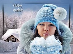 Winter Hats, Gifs, Night, Lady, People, Beautiful Children, Gifts, People Illustration, Folk