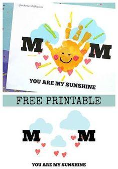 Handprint Mom You Are My Sunshine