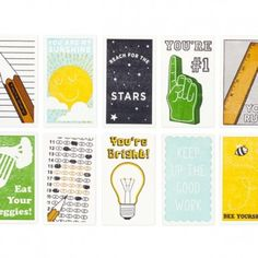 4f1c7c95ccfc LUNCH BOX NOTES Kate Thurman Set of ten assorted cards Letterpress printed  2 x 3.5 in