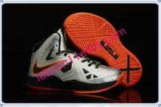 01f469e033181 Lebron 10 for Kids Lebron James Shoes Child Mango Booed Silver Orange Kid  Shoes