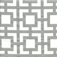 This is a grey and white lattice contemporary drapery fabric. This contemporary print is perfect for any home decorating project.v114HNF