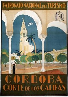 Photographic Print: Visit Spain, Cordoba Court of the Caliphs Spanish Travel Poster by David Pollack :