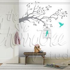 Elegant Branch & Birdcage Set Bird Cage, Bedroom Decor, Elegant, Home Decor, Classy, Chic, Decoration Home, Room Decor, Birdcages