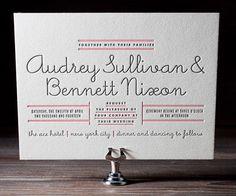wedding invites.