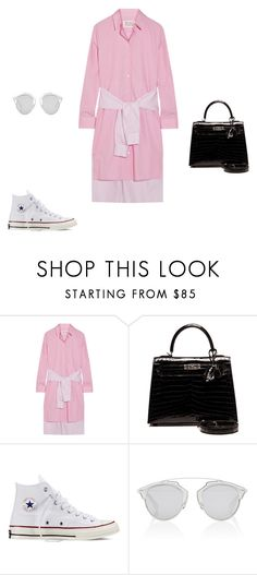 """""""Untitled #11490"""" by explorer-14576312872 ❤ liked on Polyvore featuring Maison Margiela, Hermès, Converse and Christian Dior"""