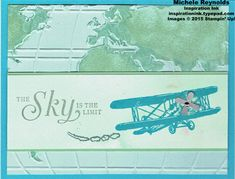 Sky Is the Limit Sponged World by Michelerey - Cards and Paper Crafts at Splitcoaststampers