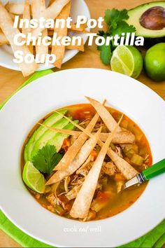 This easy Instant Pot chicken tortilla soup recipe is perfect for busy weeknights! The comfort of homemade chicken soup with all the Mexican flavors everyone loves. Raw Chicken, Shredded Chicken, Mexican Vegetables, Homemade Chicken Soup, Chicken Tortilla Soup, Easy Weeknight Meals, One Pot Meals, Soup Recipes, Cooking