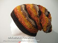 Ravelry: Wavy Stitch Slouch Hat pattern by Meladoras Creations