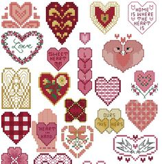 lots of hearts  To get the chart, click on the first line under the photo