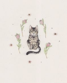 We just love how pretty and delicate this is. Haha, had to put a cat tattoo on here!