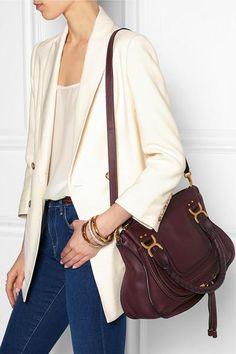 Chloé|The Marcie medium textured-leather tote|NET-A-PORTER.COM #bag #women #covetme #fashion #bag