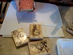 Dicas de como utilizar os carimbos na madeira - LOUCAS POR CAIXAS - YouTube