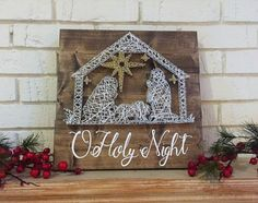 Nativity String Art l Nativity scene, string art, Christmas decor, Nativity decor, Christmas pallet sign by InspiredDesignsGoods on Etsy https://www.etsy.com/listing/490641641/nativity-string-art-l-nativity-scene