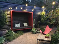 Backyard games 355362226846260111 - What do you do when a new housing development is going right behind your house & outdoor entertaining area? You build 'The Great Wells Wall' & the MyRedPod. Source by lisbapep Backyard Seating, Backyard Privacy, Backyard Garden Design, Garden Seating, Backyard Patio, Backyard Landscaping, Outdoor Seating, Backyard Play Spaces, Outside Seating Area