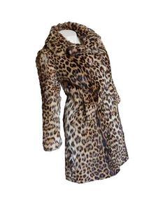 Pelliccia di leopardo modello avvitato taglia 44-46
