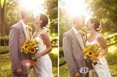 sunflower wedding. in love