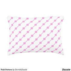 Pink Pattern Throw Pillow   Available on many more products! Type in the name of this design in the search bar on my Zazzle products page!   #abstract #art #pattern #design #color #home #decor #accessory #accent #zazzle #buy #sale #decorate #apartment #house #student #college #living #modern #chic #contemporary #style #life #lifestyle #minimal #simple #plain #minimalism #square #line #white #pink