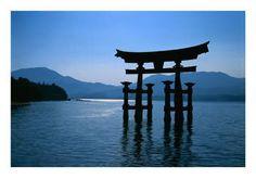 Torii - sacred space blue
