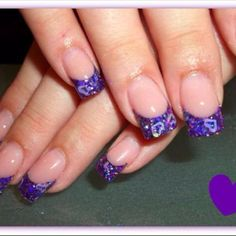 Purple Valentines Day Nails