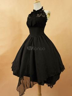 Gothic Lolita Dress JSK The Dawn White Chiffon Lace Bow Haltered Lace Up Irregular Lolita Jumper Skirt