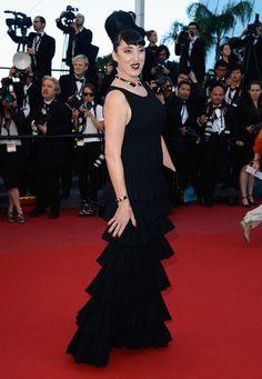 Rossy de Palma in Azzedine Alaïa - Cannes Film Festival 2013