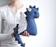 Baby Dragon Toy - Stuffed Dragon - Blue Stuffed Toy - Blue Dragon - Dragon Nursery Decor - Blue Baby Gift - Baby Shower Gift - Birthday Gift