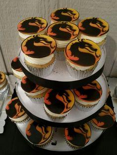 Mortal Kombat cupcake toppers!