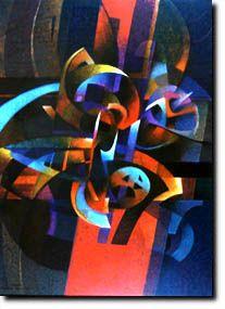 fuerza de la naturaleza --  roberto gonzalez goyri - acrilico - 1996 - guatemala
