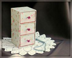 """Купить Мини-комод """"Розовые мечты"""" для украшений, рукоделия, мелочей - картонаж, шкатулка ручной работы"""