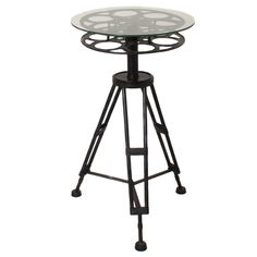 Round Top Hollywood Film Reel Table   Overstock™ Shopping - Great Deals on Casa Cortes Coffee, Sofa & End Tables