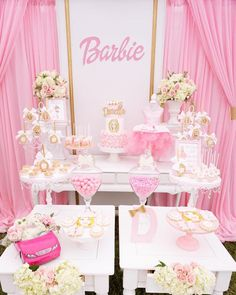 Pink Glam Barbie Birthday Party on Kara's Party Ideas | KarasPartyIdeas.com (13)