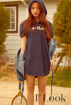 Kim Yoo Jung, who is growing up so fast, was chosen to model FILA sportswear for Look, check it out! Look Magazine, Girls Magazine, Kim Yoo Jung Photoshoot, Retro Sportswear, Kim Joo Jung, Korean Girl, Asian Girl, Korean Celebrities, Clothes