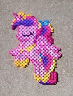 MLP Young Princess Cadance Perler Bead Art by HexfloogCrafts