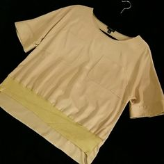NEW ANN TAYLOR BLOUSE!! YELLOW OCHRE EXCELLENT condition! Worn once! Yellow ochre color. GORGEOUS! Says size 10 but im a 2 and it looks great on me!! Due to the oversize design, you dont see its too big. Ann Taylor Tops Blouses